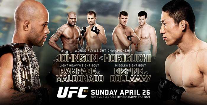Free Stream PPV UFC 186 Johnson vs Horiguchi & Rampage Jackson Returns on Kodi
