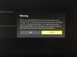 amazon firetv system developer options adb debugging warning hack kodi