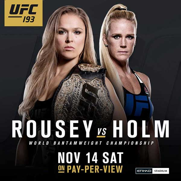 Watch UFC 193 Ronda Rousey vs Holly Holm Live and Free PPV on Kodi