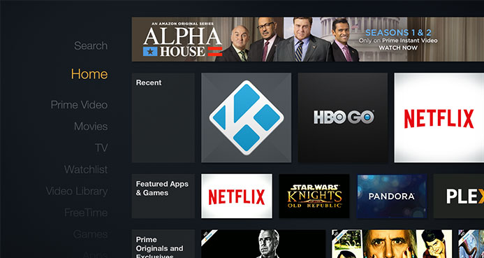 add kodi shortcut to Fire TV stick 2016