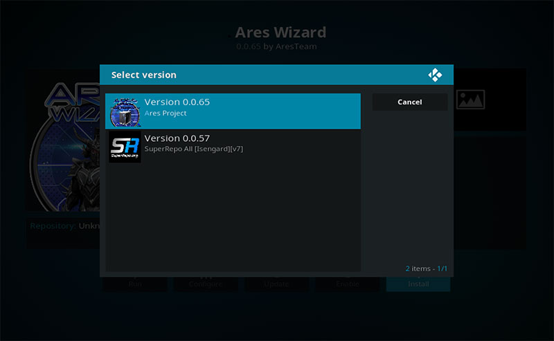 Kodi-krypton-version-ares-wizard