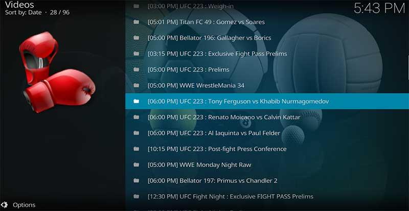 watch ufc 223 free kodi ferguson khabib